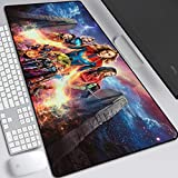 Captain Marvel Mouse Pad,Professional Large Gaming Mouse Pad, Classic Pattern Mouse mat,Extended Size Desk Mat Non-Slip Rubber Mouse Mat,Marvel (900 × 400× 2 mm / 35.5 × 15.8 × 0.1 inch, 14)