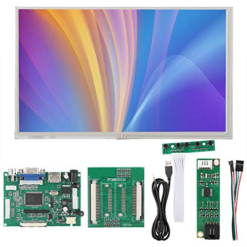 Taidda- Touchscreen-Display, 1024 x 600, 262 K, 5 V bis 12 V, 9 Zoll Touchscreen-Display für Raspberry Pi für Mobile Digitale DVD-Bilderrahmen