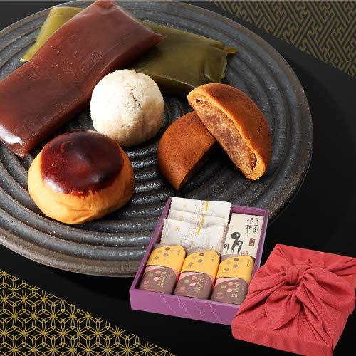 敬老の日 プレゼント 和菓子詰め合わせ 11個入 風呂敷包みセット あかね色 ギフト お菓子 k-gift-11