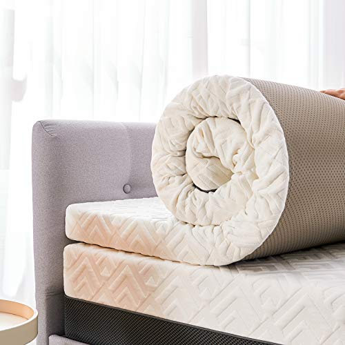 Inofia Sleep Mattress Topper,Gel Memory Foam Mattress Topper Small Double Bed,3Inch Ultra Soft Zipped Cover with Breathable Mesh Side, GELGEMX Memory Foam for holding a Cool, Conforming Sleep