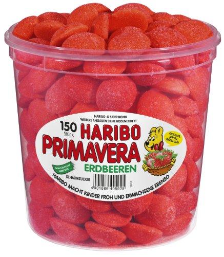 Haribo Primavera Erdbeeren Dose, 150 Stück, 1,05kg