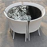 GWZZ Patio al Aire Libre Balcón Rattan Silla de Cinco Piezas de Muebles de jardín...