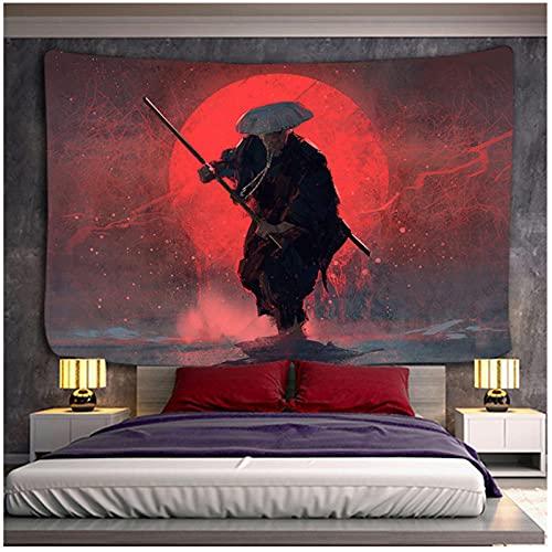 QJIAHQ Tapiz de Estilo japonés Samurai Assassin Tapiz de Pared con Personalidad tapices de Tela para Sala de Estar decoración del hogar 200x150cm