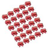 Cajas de dulces, lazo duradero no tóxico de caja de regalo para los partidos(rojo)