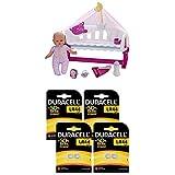 Nenuco Lot Cunita Duerme Conmigo Con Baby Monitor + Pile Bouton alcaline Duracell spéciale LR44, 8 Piles