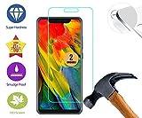 case & glass 2 Unidades de Protector de Pantalla Premium 2.5D Cristal Vidrio Templado 9H ZTE Axon 9 Pro