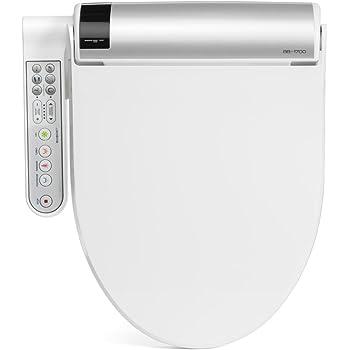 BioBidet BLISS BB-1700 Elongated White Bidet Toilet Seat with Warm Water, Hybrid Heating Hydroflush Technology, Side Panel, Posterior and Feminine Wash Self Cleaning Electric Bidet Easy DIY Installation