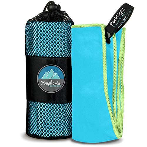 Youphoria Outdoors Microfiber Travel Towel - Ideal Fast Drying Towels for...