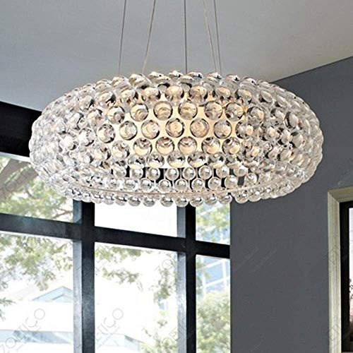 YANQING Duurzame Hanglamp Woonkamer Slaapkamer Eetkamer Bar Counter Porch Corridor Trap Balkon Lamp Crystal Led Plafond Licht 50x50x19cm Hanger Lamp