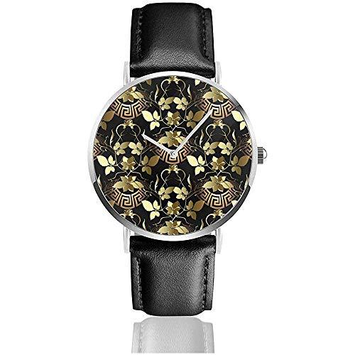 Gold lässt griechische Uhren der Frauen-Uhr-Armbanduhren des Frauen-3D