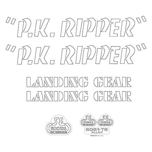 SE Bikes PK Ripper Decal Set null WHITE
