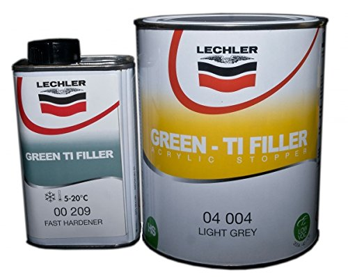 Lechler 2K Green TI Filler inkl. Härter 3,0 Ltr hellgrau