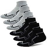 BERING Men's Performance Ankle Athletic Running Socks (6 Pack)
