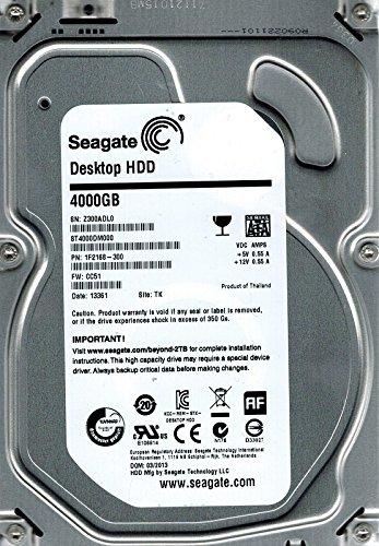 Seagate ST4000DM000P/N: 1F2168–300F/W: cc51TK 4TB