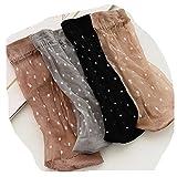 Distinct Frauen Sommer Kurze ultradünne Kristall Seide Socken - 4 Paar