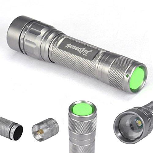VENMO Linterna, 3000 Lumens 3 Modos CREE XML XPE LED Linterna 18650 Antorcha Lámpara Potente (Plata)