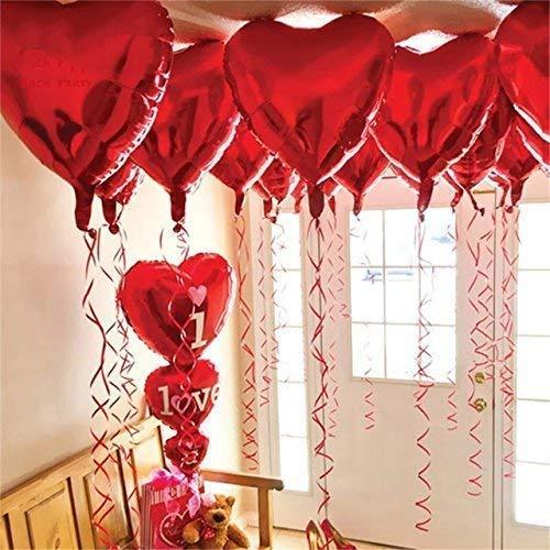 12 + 1 Red Heart Shape Balloons - 1 I Love U...