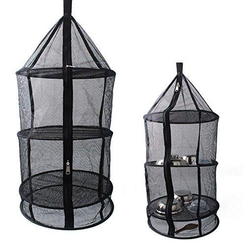 Morkka 3 Layer Opvouwbare Camping Keuken Opknoping Droog Net voor Voedsel Gerechten of Kleding Geweldig voor Thuis Picknick Camping of Elke Outdoor Gelegenheid, Houd Uit Vliegen Bugs Muggen Van Uw Eten