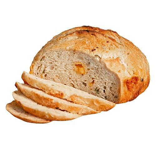 Fresh Sourdough Bread – San Francisco Bakery Style Dutch Oven Jalapeño Cheddar Loaf – Hand-made & Whole Grain – Natural – 1 Sliced Artisan Round 36 oz