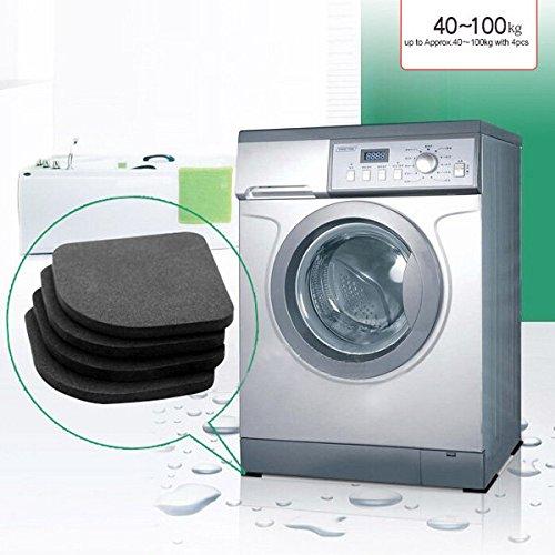 Bazaar 4pcs machine à laver anti-choc patins silence coton tapis anti-dérapant