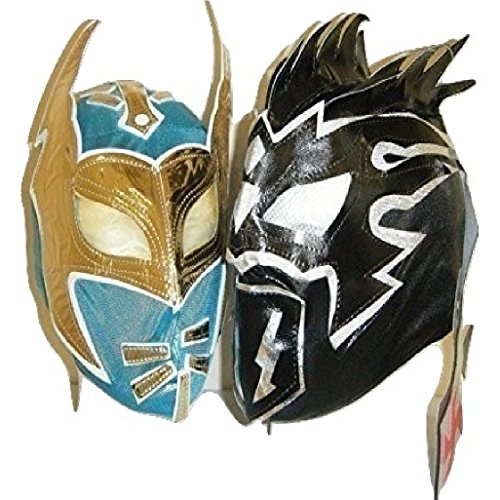 TAG TEAM LUCHA DRAGONS - KALISTO AND SIN CARA CHILDREN MASKS !!! by WRESTLING MASKS UK