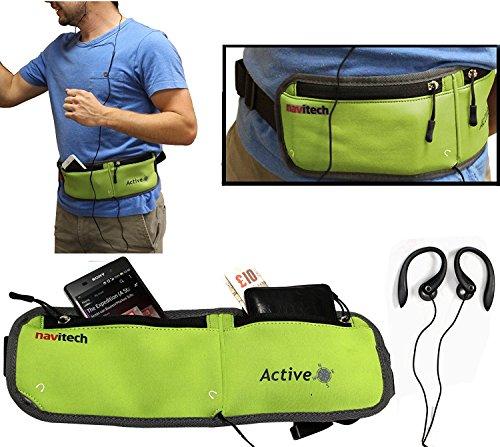 Navitech Grün Smartphone Lauf/Jogging Wasserdicht Sport Gürtel/Bund für die Archos 50 Power