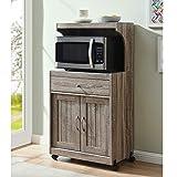 Home Source Kevin AMV GR Microwave cart, Grey