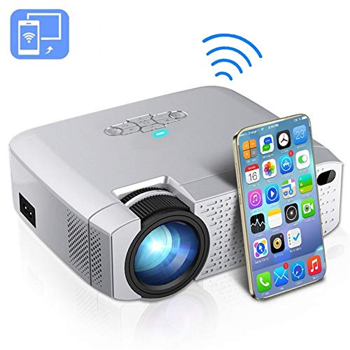 Home cinema projector projector LED video beamer 1600 lumen Hd draadloze synchronisatiescherm voor iPhone/Android super helder