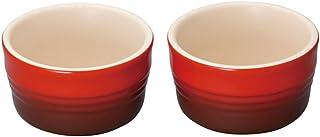 ル・クルーゼ(Le Creuset) 耐熱容器 ラムカン(L) チェリーレッド 耐熱 耐冷 電子レンジ オーブン 対応 2個 入り 【日本正規販売品】
