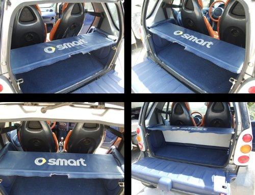 O Smart Fortwo Hutablage Cover und Ruten für alle 450Modelle unterstützen–Navy Blau