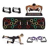 Rpanle 13 en 1 Push Up Rack Board, Plegable Fitness Push Up Tabla Board Multifuncional Portátil, para Hombres, Mujeres, Físico Ejercicio, Entrenamiento en el Hogar