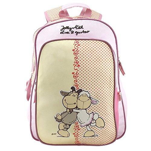 NICI Kinder-Rucksack, Pink/Weiß