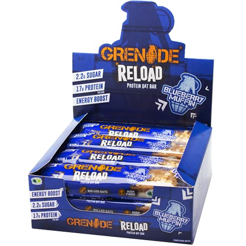 Grenade Reload Energy x 12 Bars -Blueberry Muffin