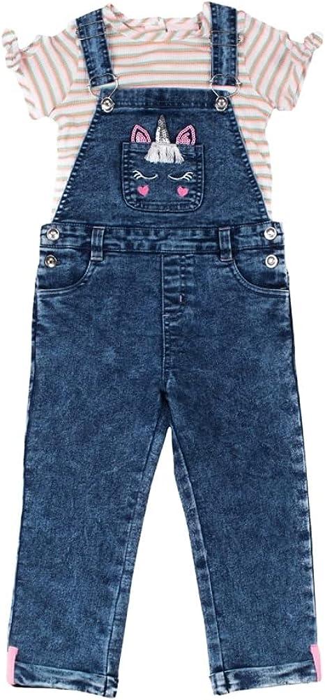 Baby Store Toddler Girls Little Lass 2 Cheap pc Set Top Denim Overall
