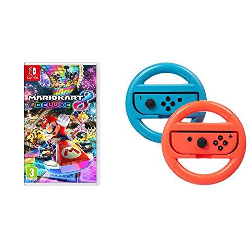 Mario Kart 8 Deluxe + Pack 2 volantes Amazon Basics