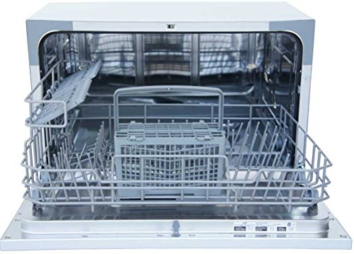 Sunpentown SD-2224DS Countertop Dishwasher with Delay Start in Silver, Gray