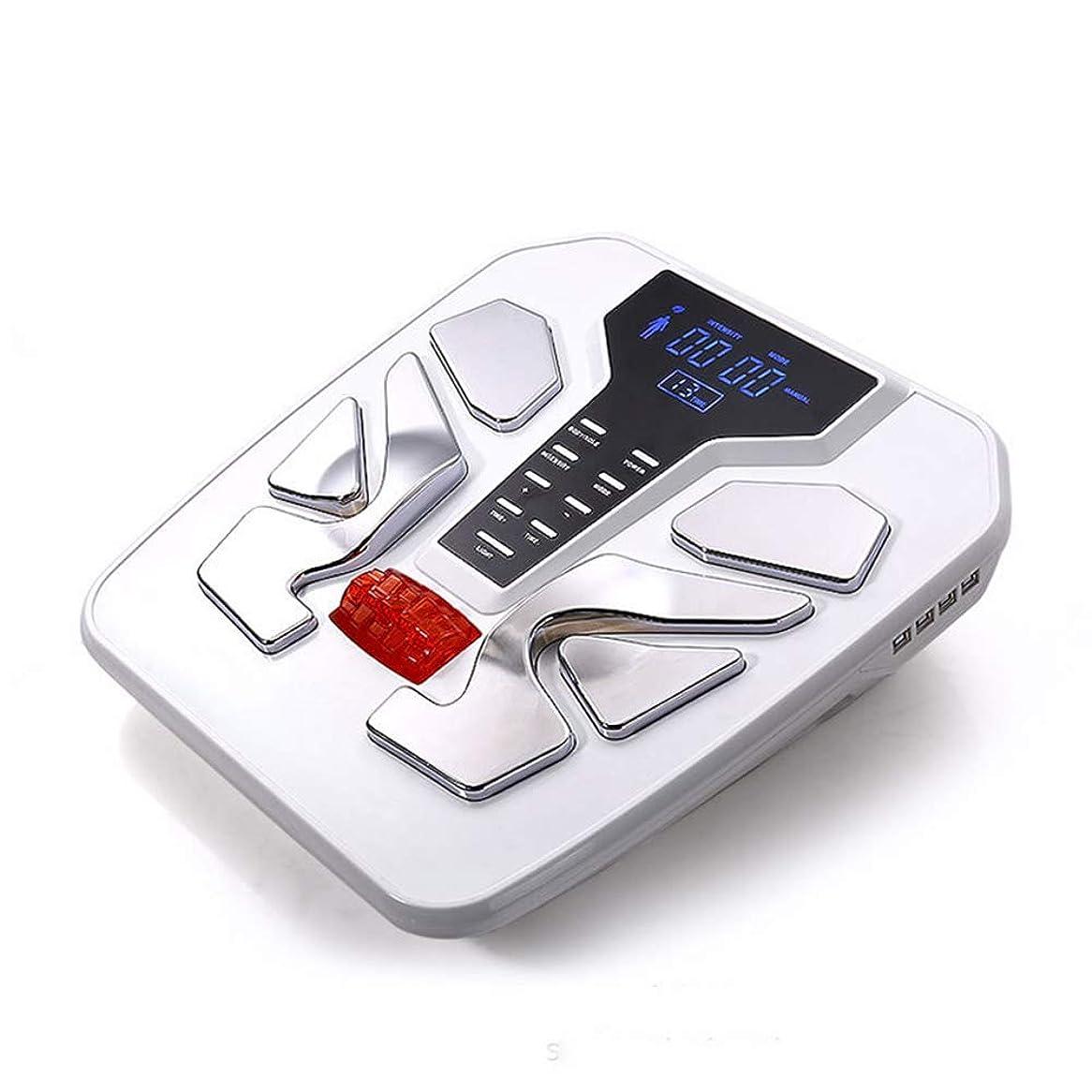 曲がった時間とともに撤回するリモコン 電気フットマッサージャー50種類のマッサージテクニック電気パルスマッサージタイミング機能ディープニーディングで足の痛みを和らげます インテリジェント, White