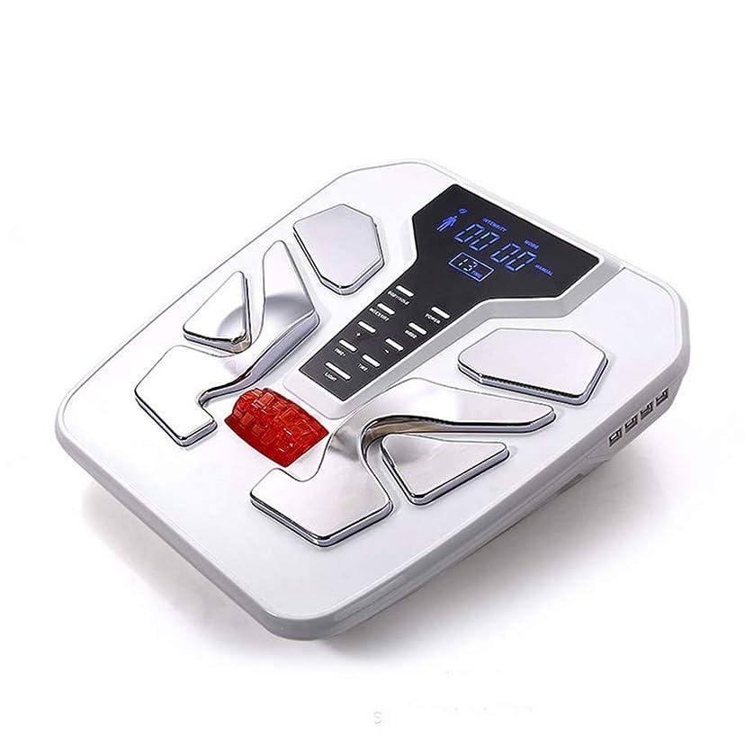 聖職者機関車なめる電気フットマッサージャー50種類のマッサージテクニック電気パルスマッサージタイミング機能ディープニーディングで足の痛みを和らげます, White