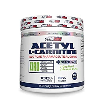 Acetyl L-Carnitine by EHPlabs - Weight Loss Support Helps Boost Energy Production Memory & Focus Non-GMO Vegan Gluten Free - 100 Serves