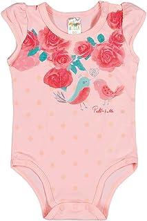 Body Feminino Bebê - Rosê