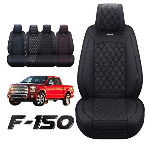 Aierxuan Car Seat Covers Front Set with Waterproof Leather Automotive Vehicle...