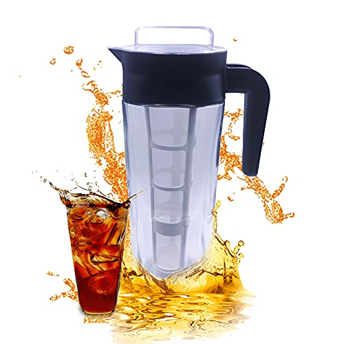 Jarra cold brew - 1.8 Litros (Cold brew coffee maker). Infusionador con filtro de nylon adaptable para mejores preparaciones ¡Exclusivo diseño Danés!