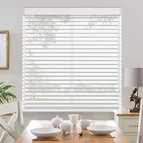 """Keego Sheer Window Blinds Custom Size, Blackout Shangri-La Window Roller Shades, Triple Sheer Shades for Privacy and Light Control [Gray, 52"""" W X 72"""" H]"""