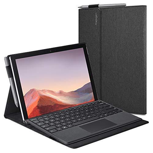 Spigen Stand Folio projetado para Capa para Surface Pro 7 Plus / Surface Pro 7 / Surface Pro 6 Capa (2021/2019/2018) - Cinza Carvão