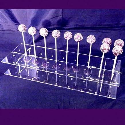 Preisvergleich für Super Cool Creations 45x 16cm 6,5cm hoch Acryl Rechteck Cake Pop-Ständer mit 36löcher 5cm Apart, transparent