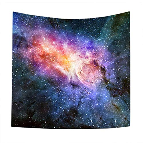 Wintefei Galaxy Starry Sky Tapestry Room Wall Hanging Beach Towel Blanket Home Decoration