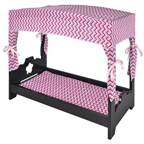 Naomi Home Kids Canopy Doll Bed Espresso