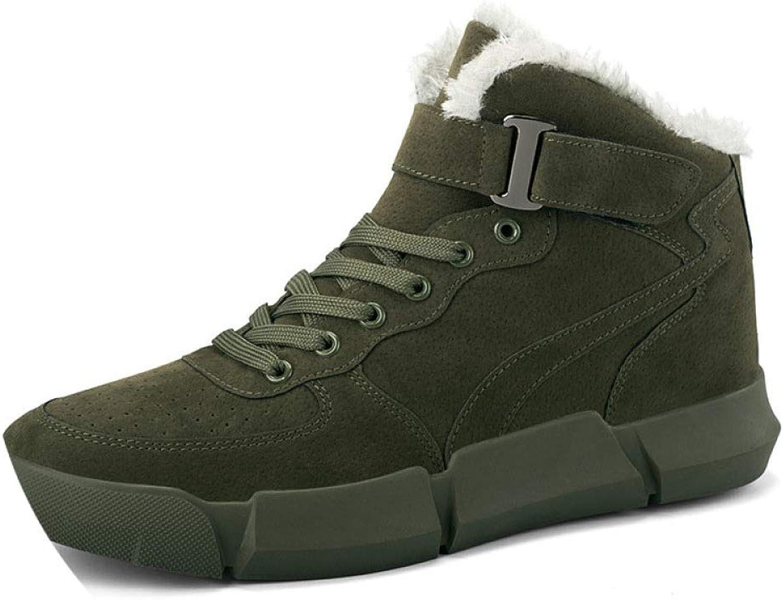 Autumn and Winter Men's High to Help Warm Plus Cotton Sports Fashion Men's shoes, Casual Cotton shoes, Men's shoes
