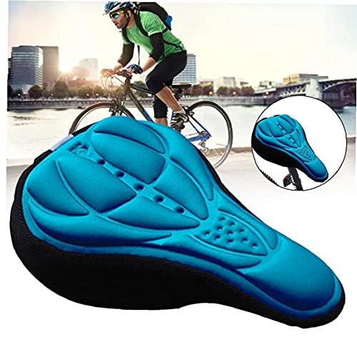 Sillín De Bicicleta De Espuma Suave Cómodo Montar De La Bici De MTB De Una Silla con Amortiguador De La Silla De Montar De Ciclo De Accesorios Azul