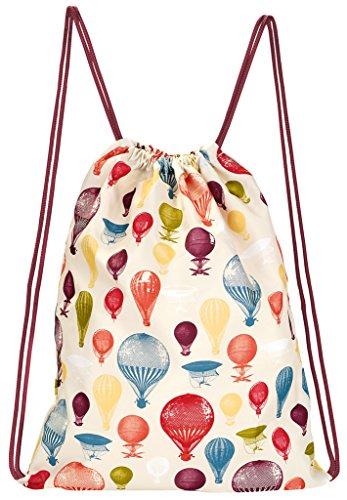 moses. Rucksack Ballon, Faltbarer Backpack, umweltfreundlich, wiederverwendbar Sporttasche, 42 cm, Mehrfarbig